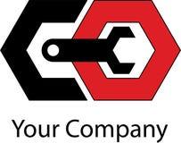 Prosty machinalny logo zdjęcie royalty free
