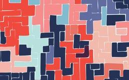 Prosty malujący barwiący geometryczny postaci tło dla projekta Obraz Stock