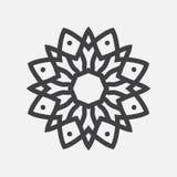 Prosty mandala kształt logo ilustracja wektor