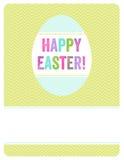 Wielkanocny jajko zaprasza Obrazy Royalty Free