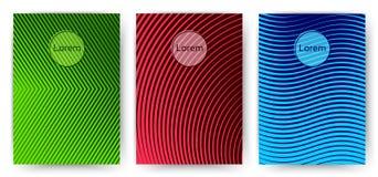Prosty modny pokrywa szablon Set minimalni halftone gradienty Zdjęcia Stock