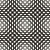 Prosty monochromatyczny geometryczny bezszwowy wzór z małymi okręgami i kwadratami Abstrakcjonistyczna geometrical ornament tekst ilustracji