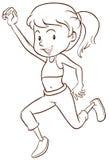 Prosty nakreślenie dziewczyna taniec ilustracji