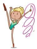 Prosty nakreślenie gimnastyczka ilustracja wektor