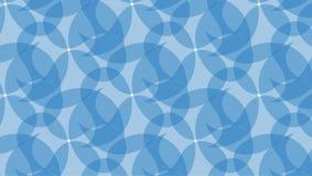 Prosty Nowożytny abstrakcjonistyczny błękitny curvy fala wzór Fotografia Royalty Free