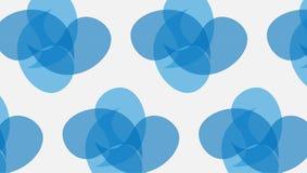 Prosty Nowożytny abstrakcjonistyczny błękitny krzywy złącza kształtów wzór royalty ilustracja