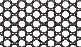 Prosty Nowożytny abstrakcjonistyczny czarny okrąg siatki wzór zdjęcia royalty free
