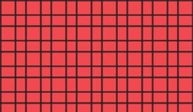 Prosty Nowożytny abstrakcjonistyczny czerwony w kratkę wzór obraz royalty free