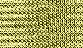 Prosty Nowożytny abstrakcjonistyczny kolor żółty wyginający się kreskowy siatka wzór fotografia stock