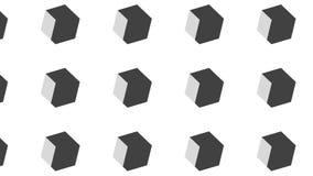 Prosty Nowożytny abstrakta 3D sześcianu duży monochromatyczny wzór royalty ilustracja