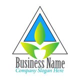 Prosty Nowożytny trójbok z liścia logo projekta inspiracją ilustracja wektor