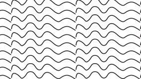 Prosty Nowożytny abstrakcjonistyczny monochromatyczny fala wzór Zdjęcie Stock