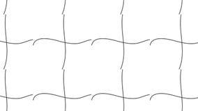 Prosty Nowożytny abstrakcjonistyczny monochromatyczny siatek fala wzór Fotografia Royalty Free
