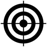 Prosty okręgu celu szablon Bullseye symbol ilustracja wektor