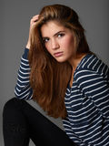 Prosty portret piękna dziewczyna obraz royalty free