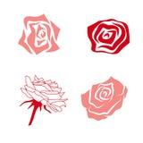 Prosty róża set Obrazy Royalty Free