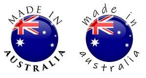 Prosty Robić w Australia 3D guzika znaku Tekst wokoło okręgu z royalty ilustracja