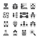 Prosty set Dru?ynowa pracy ikona wektorowy glifu stylu znaka symbol royalty ilustracja