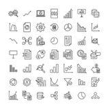 Prosty set duzi dane odnosić sie zarysowywa ikony Obrazy Stock