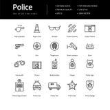 Prosty set linii polici ikony Obraz Royalty Free