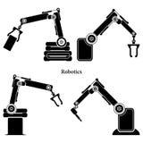 Prosty set robot Odnosić sie Kreskowe ikony Zawiera taki ikony jak autopilota, Chatbot, Łamająca larwa i bardziej Editable uderze Obraz Royalty Free