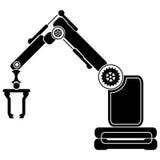 Prosty set robot Odnosić sie Kreskowe ikony Zawiera taki ikony jak autopilota, Chatbot, Łamająca larwa i bardziej Editable uderze Fotografia Stock