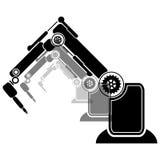 Prosty set robot Odnosić sie Kreskowe ikony Zawiera taki ikony jak autopilota, Chatbot, Łamająca larwa i bardziej Editable uderze Fotografia Royalty Free