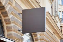Prosty sklepu signage mockup Kwadratowy kształt Fotografia Royalty Free