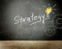 Prosty strategii pojęcie na Czarnym Chalkboard Zdjęcie Stock