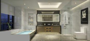 Prosty styl sypialnia w starszym mieszkaniu w Szanghaj Fotografia Royalty Free