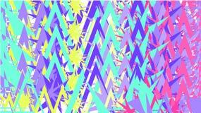 Prosty tło, tekstura minimalistic stubarwni abstrakty różnorodni różni ostrzy trójboki i zygzag wtyka out, ilustracji