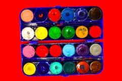Prosty watercolour maluje paletę Obrazy Stock