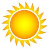 Prosty wektorowy słońce Zdjęcie Stock