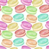 Prosty wzór kolorowi macarons na przejrzystym tle ilustracja wektor