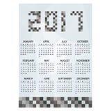 2017 prostych biznesowych ściennego kalendarza grayscale cegieł eps10 Obraz Royalty Free