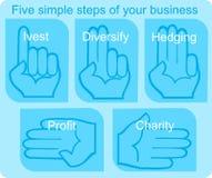 5 prostych kroków Obrazy Stock