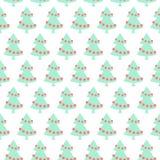 Prostych minimalistic bożych narodzeń wektoru bezszwowy wzór Zdjęcie Royalty Free