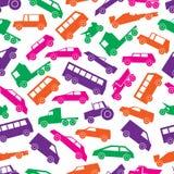 Prostych samochodu koloru ikon bezszwowy wzór Zdjęcia Royalty Free