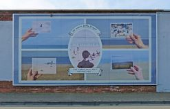 Protège ainsi la peinture murale dans les boucliers, le Tyne and Wear du sud Photographie stock