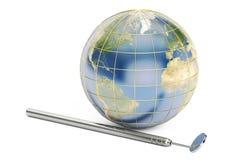 Protégez et inquiétez-vous du concept de la terre, le rendu 3D illustration stock
