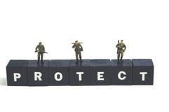 Protégez et servez image libre de droits