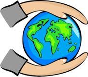 Protégez la terre Photo libre de droits