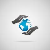 Protégez la terre de planète Image libre de droits