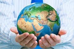 Protégez la vie sur la planète de la terre Photo stock