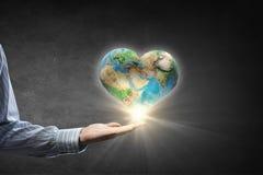 Protégez la vie sur la planète de la terre Photo libre de droits