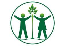 Protégez le vert illustration de vecteur