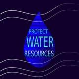 Protégez les ressources en eau Image stock