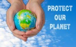 Protégez notre concept de planète Images libres de droits