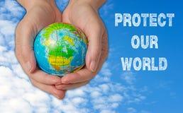 Protégez notre monde Photo libre de droits