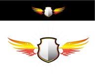 Protégez sur le collant flamboyant d'ailes Illustration Stock